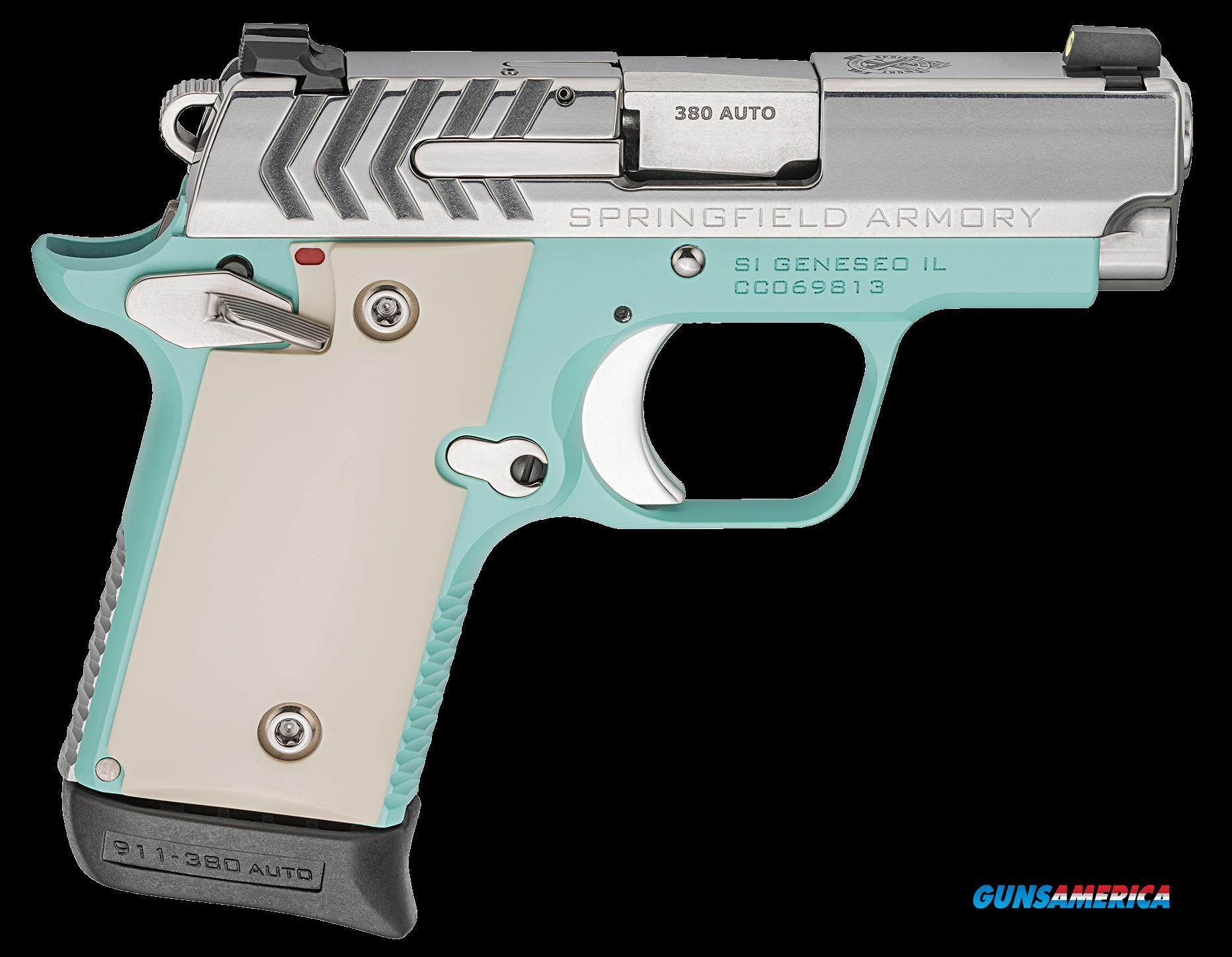 Springfield Armory 911, Spg Pg9109vbs     380 911 2.7 Vntg Blue Ss   6-7r  Guns > Pistols > 1911 Pistol Copies (non-Colt)