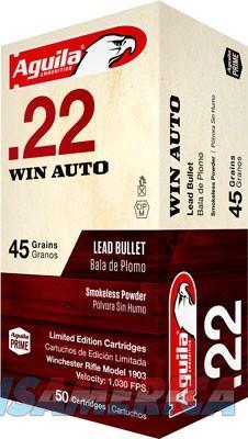 Aguila .22 Winchester Auto - 45gr. Lrn Eley Primed 50-pack  Guns > Pistols > 1911 Pistol Copies (non-Colt)
