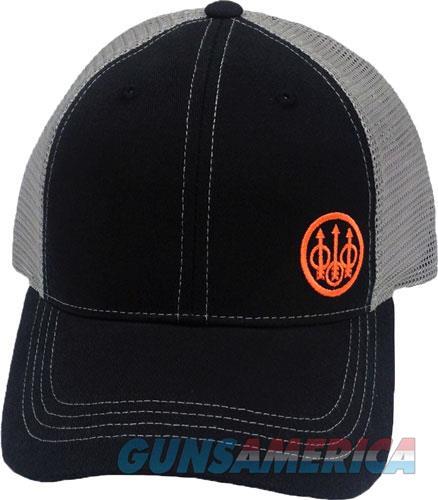 Beretta Cap Trucker W-offset - Logo Cotton Mesh Back Blk-gray  Guns > Pistols > 1911 Pistol Copies (non-Colt)