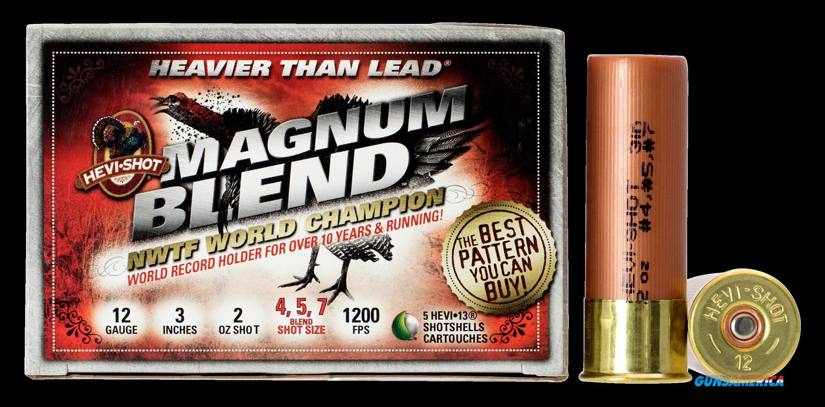 Hevishot Magnum Blend, Hevi 43457 Tky Mgblend  12 3  4,5,7 2oz  5-10  Guns > Pistols > 1911 Pistol Copies (non-Colt)