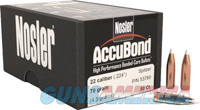 Nosler Accubond, Nos 53780 Accubond    22  70 Sptzr  50  Guns > Pistols > 1911 Pistol Copies (non-Colt)