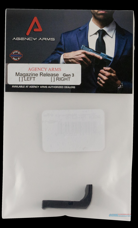 Agency Arms Magazine Release, Agency Mr-g3-b        Mag Release Gen3 Blk  Guns > Pistols > 1911 Pistol Copies (non-Colt)