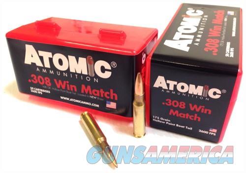 Atomic Ammo .308 Win. 175gr. - Match Bthp 50-pack  Guns > Pistols > 1911 Pistol Copies (non-Colt)