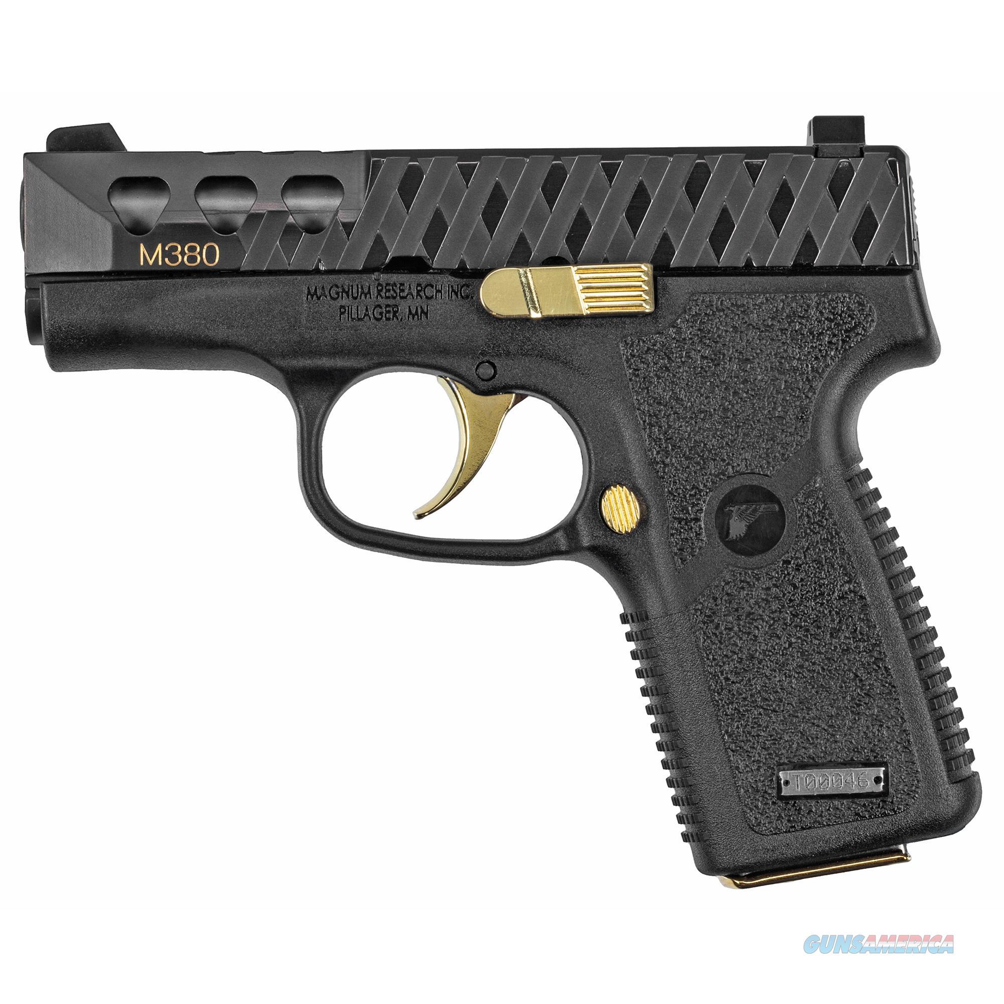 Magnum Research , Mag M380     Pocket Pistol 380acp 7rd Blk-gold  Guns > Pistols > 1911 Pistol Copies (non-Colt)