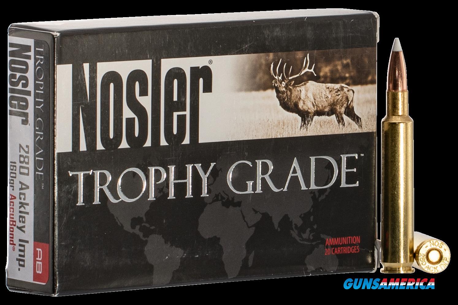 Nosler Trophy Grade, Nos 60076 Trophy      280 Ai   160 Acu       20-10  Guns > Pistols > 1911 Pistol Copies (non-Colt)