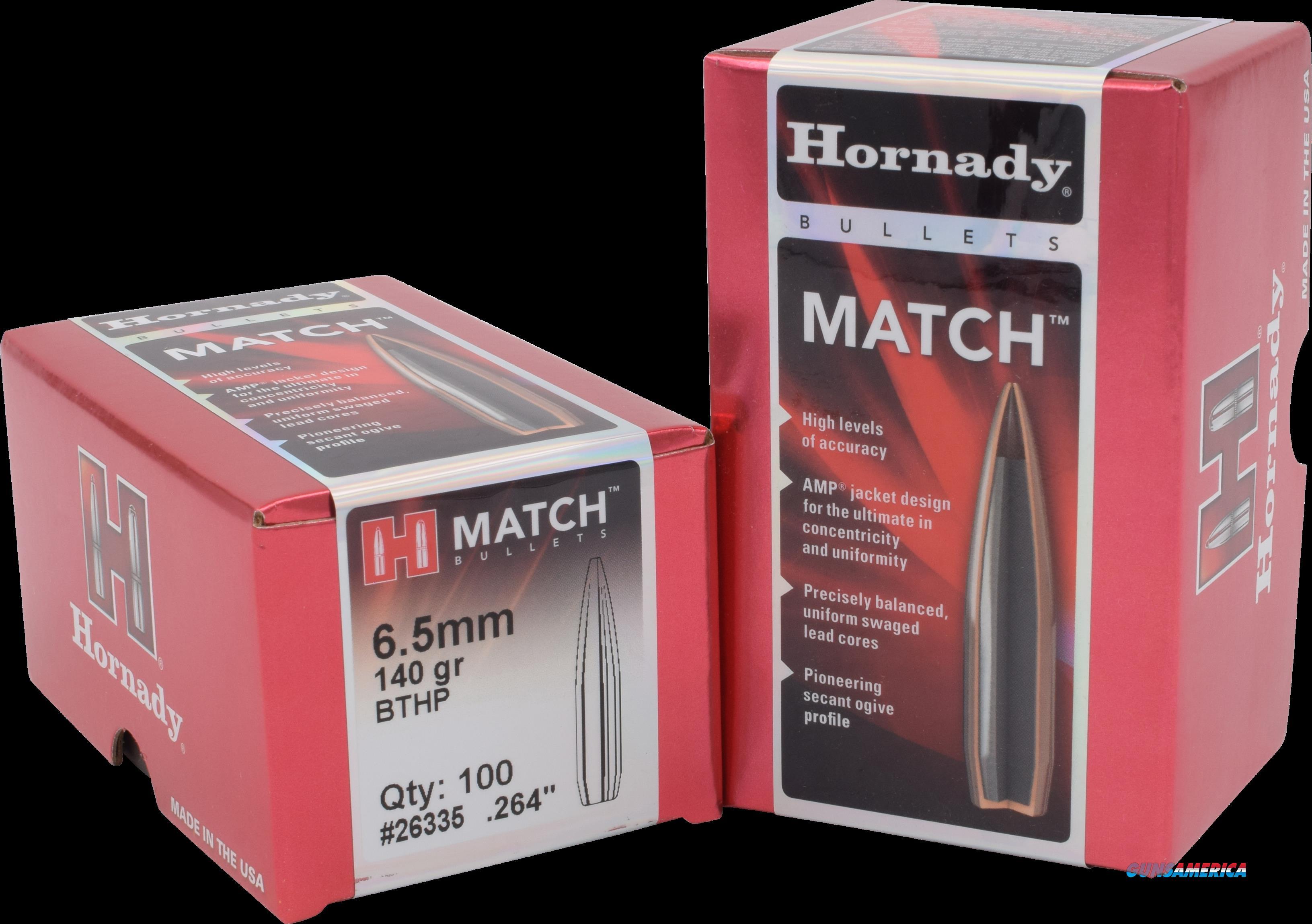 Hornady Match, Horn 26335 Bull .264 140  Bthp-m   100  Guns > Pistols > 1911 Pistol Copies (non-Colt)