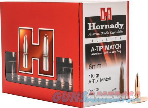 Hornady A-tip, Horn 24531 Bull .243 110 A-tip Match           100  Guns > Pistols > 1911 Pistol Copies (non-Colt)
