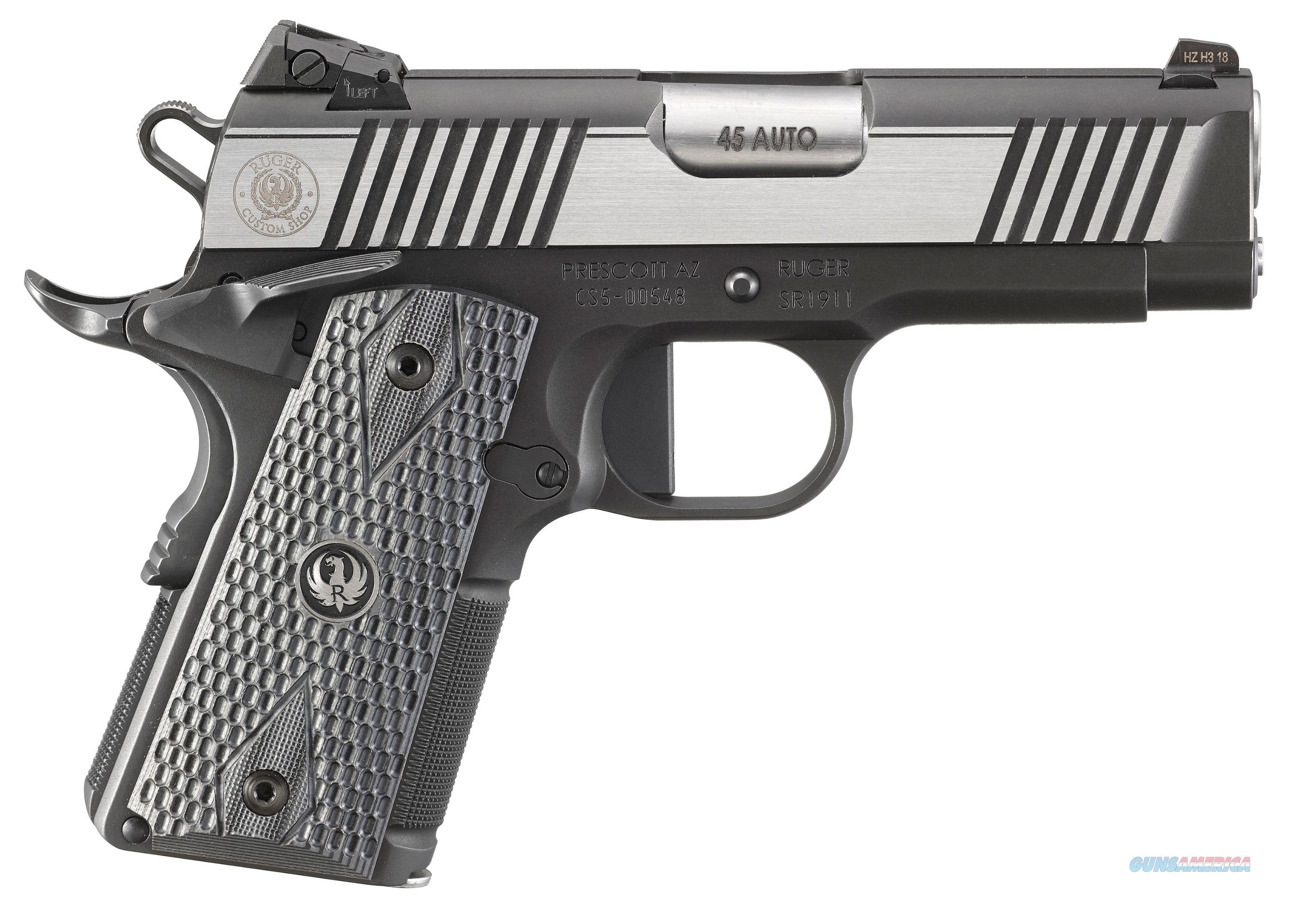 Ruger Sr1911, Rug 6779  Sr1911    45  3.6 Officer 7r  Tns Blk-ss  Guns > Pistols > 1911 Pistol Copies (non-Colt)