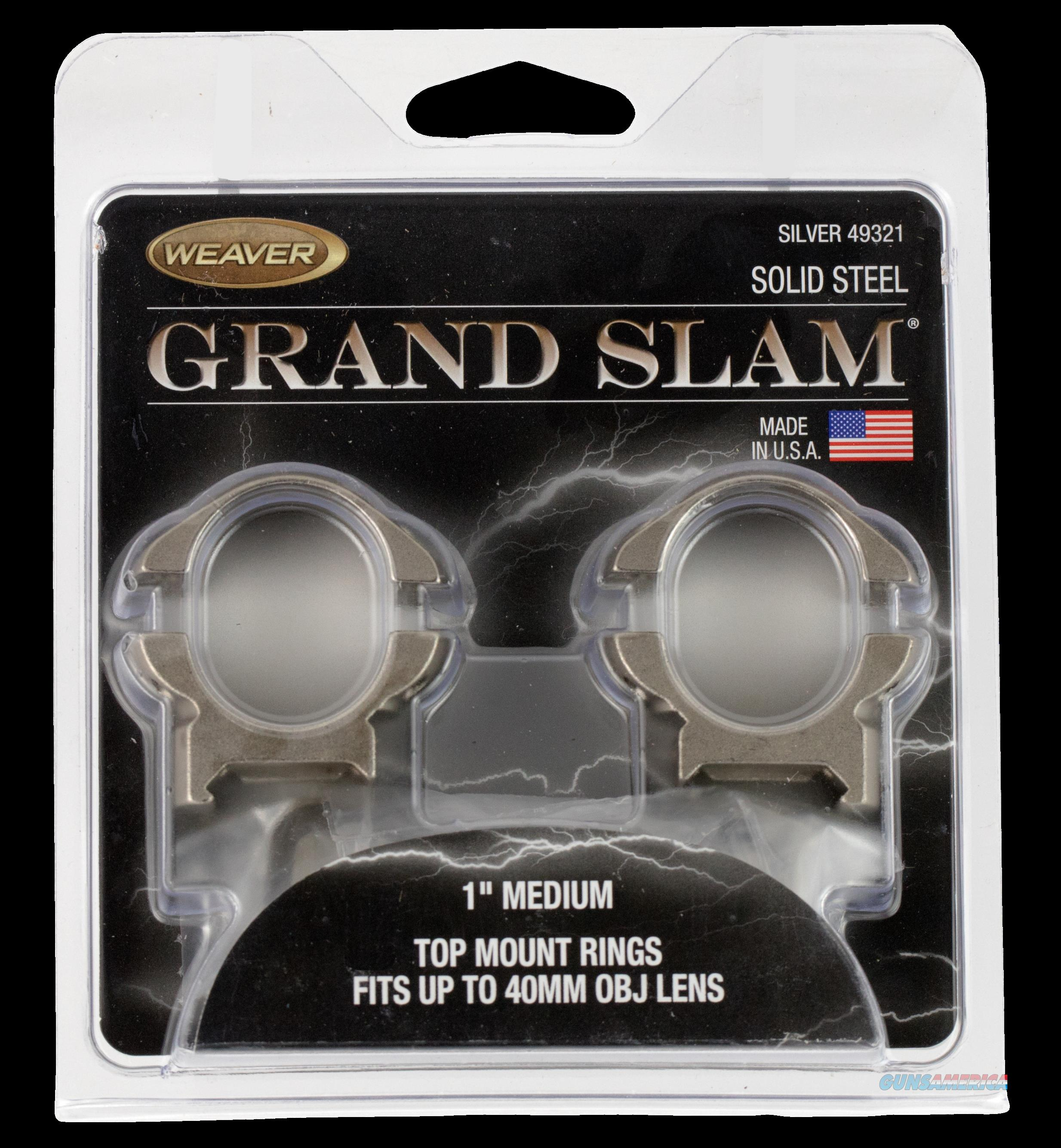 Weaver Mounts Grand Slam, Weav 49321 Grandslam Rngs 1in Med Slvr  Guns > Pistols > 1911 Pistol Copies (non-Colt)