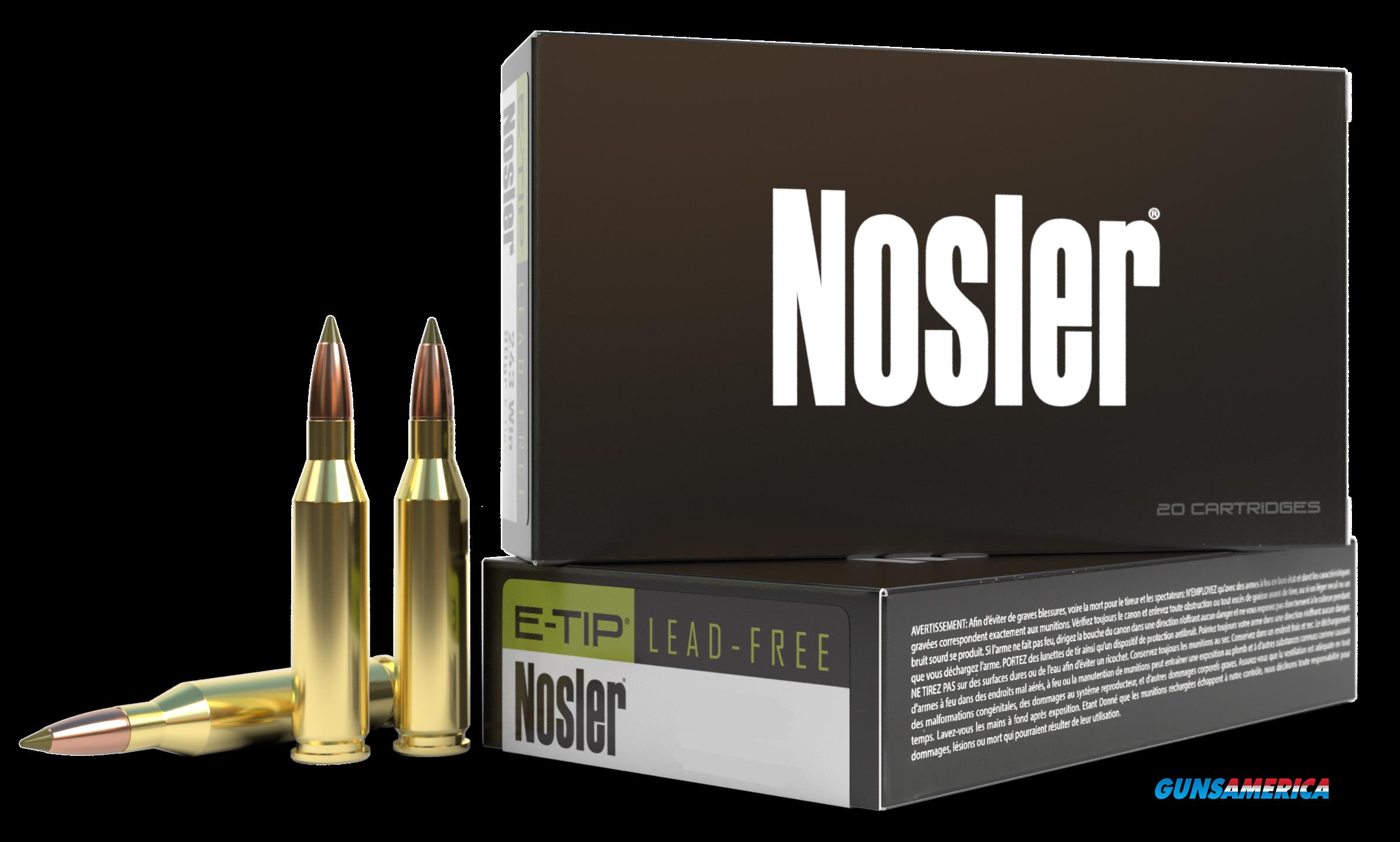 Nosler E-tip, Nos 40042 E-tip  33 Nos   225 E-tip          20-10  Guns > Pistols > 1911 Pistol Copies (non-Colt)