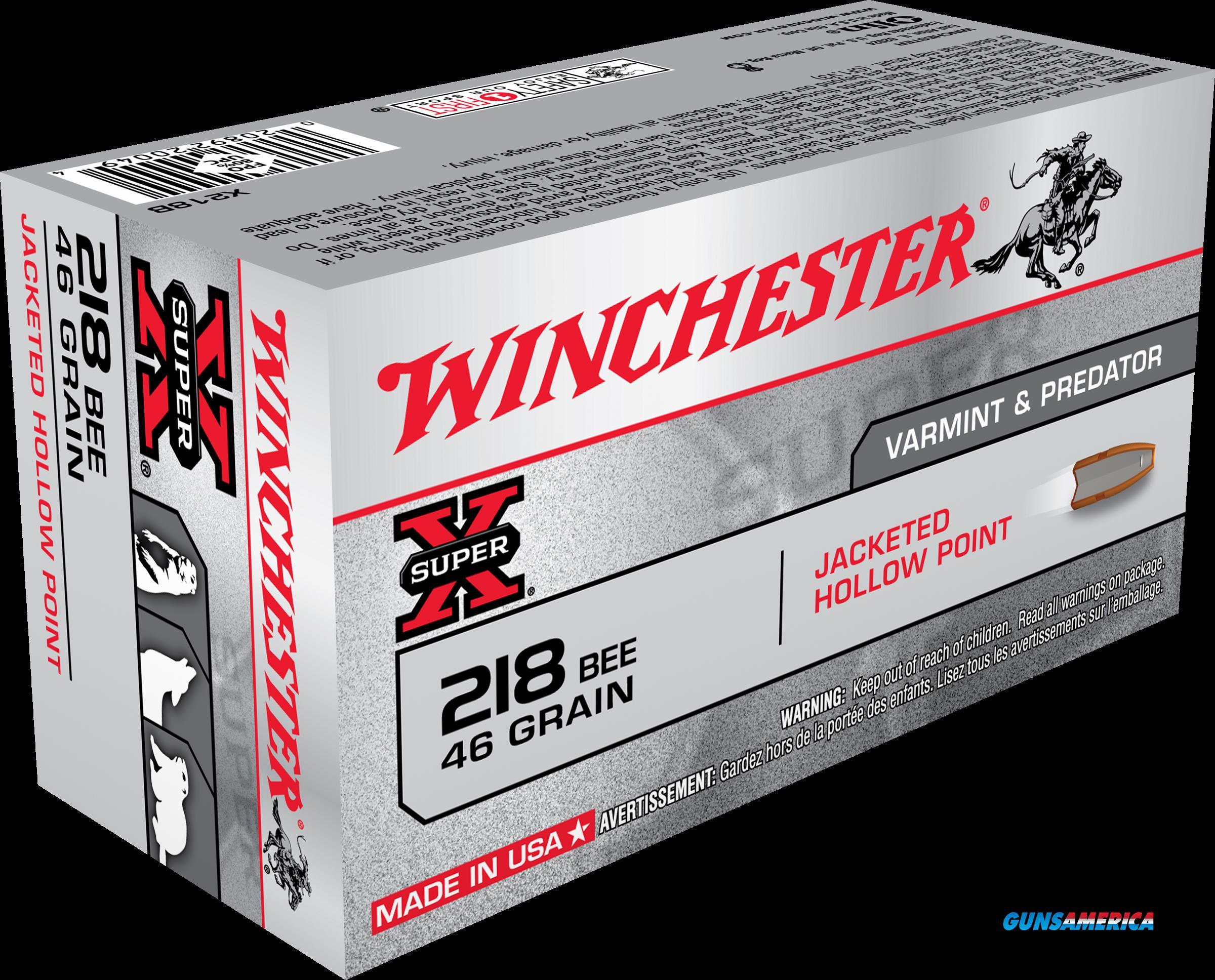 Winchester Ammo Super-x, Win X218b         218bee  46hp   50-10  Guns > Pistols > 1911 Pistol Copies (non-Colt)