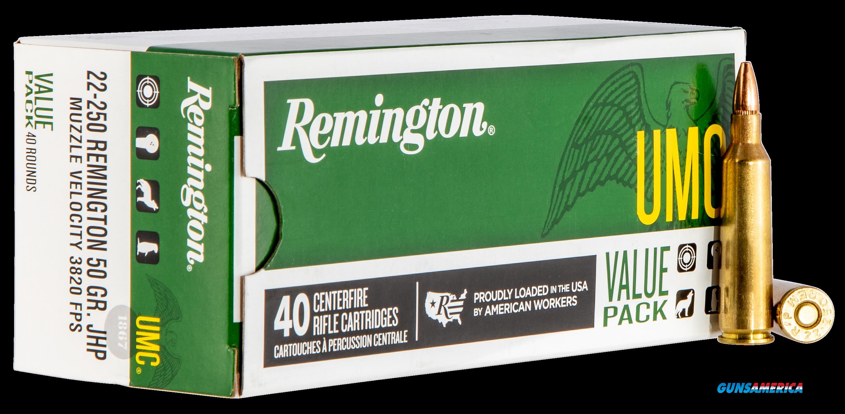 Remington Ammunition Umc, Rem 23783 L22504b  Umc 22250  Vp 50jhp 40-10  Guns > Pistols > 1911 Pistol Copies (non-Colt)