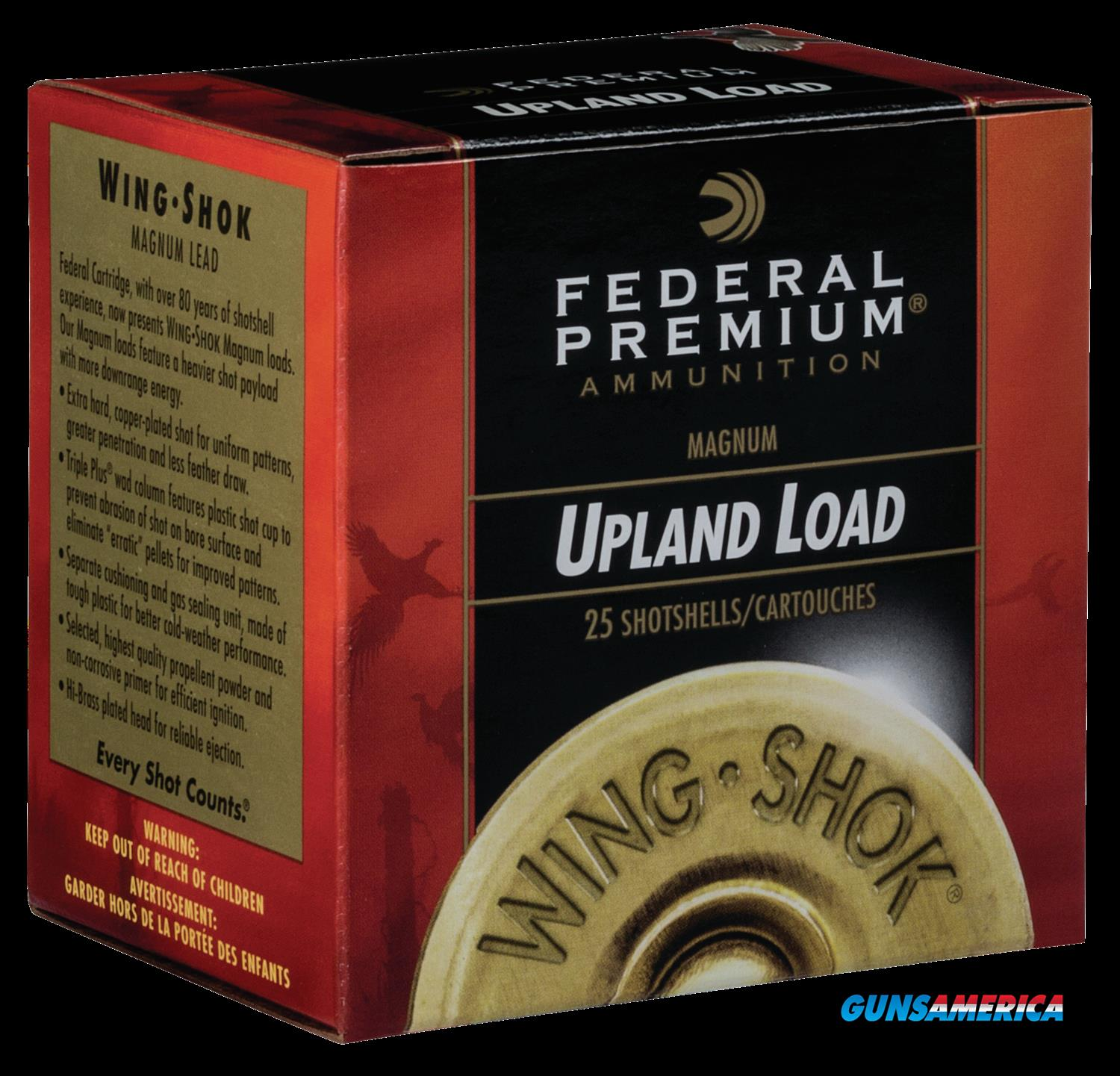 Federal Premium Upland, Fed P2586     Wngshk  20 3in 11-4        25-10  Guns > Pistols > 1911 Pistol Copies (non-Colt)