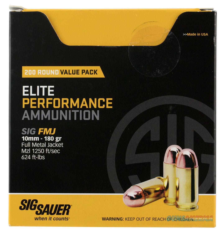 Sig Sauer Elite Ball, Sig E10mb1-200    10mm    180 Fmj Elite *vp* 200-5  Guns > Pistols > 1911 Pistol Copies (non-Colt)