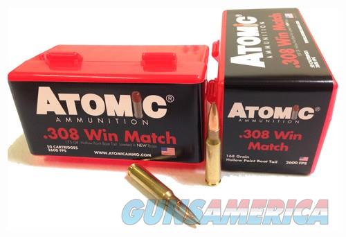 Atomic Ammo .308 Win. Match - 168gr. Nosler Bthp 50-pack  Guns > Pistols > 1911 Pistol Copies (non-Colt)