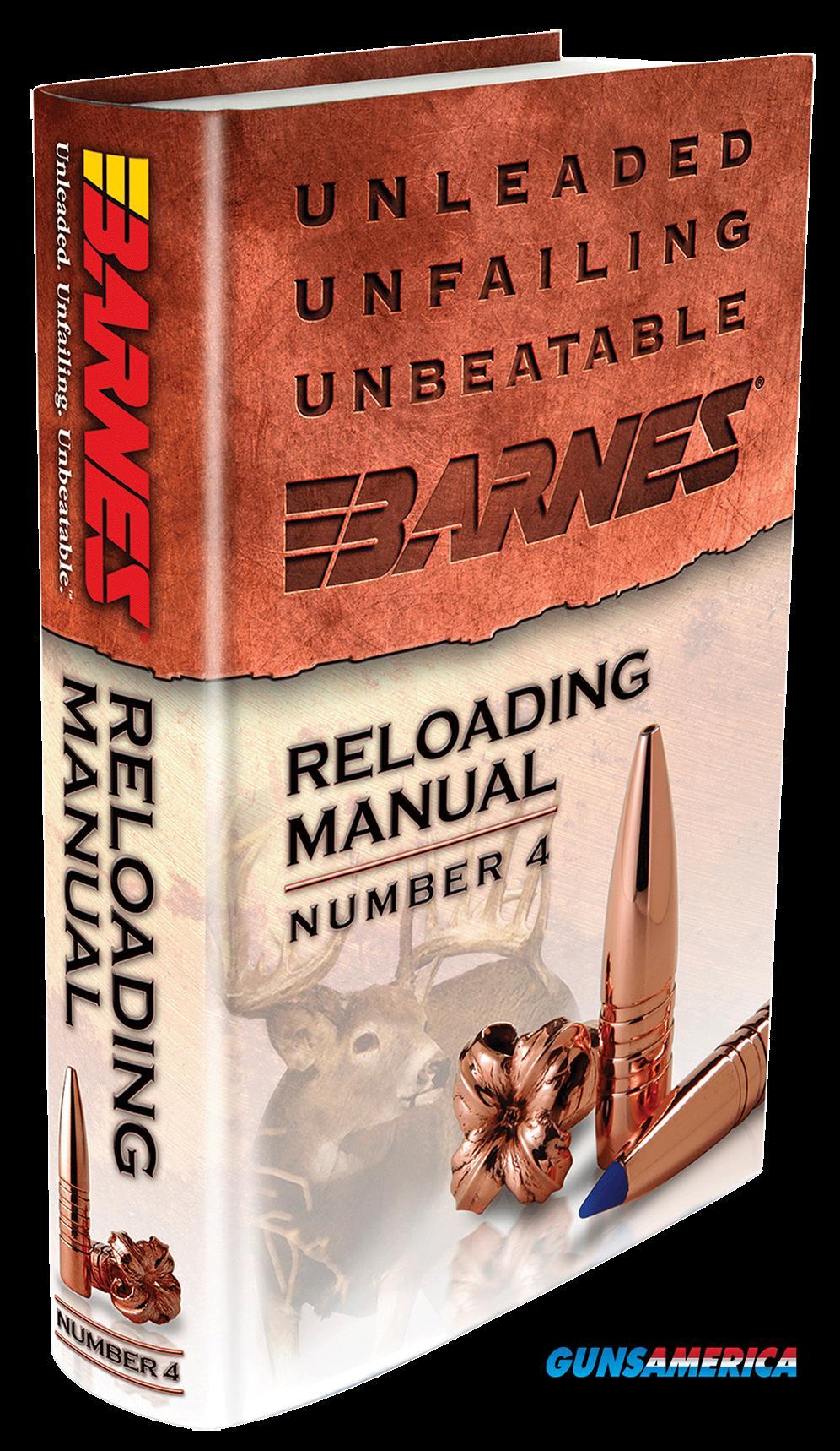Barnes Bullets Reloading Manual, Brns 30745 Reloading Manual #4  Guns > Pistols > 1911 Pistol Copies (non-Colt)