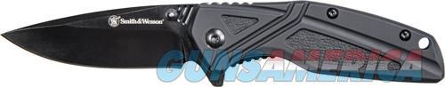 S&w Knife Black Rubber 3 Blk - Oxide Blade W-pocket Clip  Guns > Pistols > 1911 Pistol Copies (non-Colt)