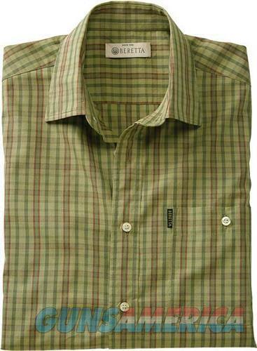 Beretta Men's Drip Dry Short - Sleeve Green Check Medium<  Guns > Pistols > 1911 Pistol Copies (non-Colt)