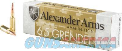 Alexander Ammo 6.5 Grendel - 123gr. Lapua Scenar 20-pack  Guns > Pistols > 1911 Pistol Copies (non-Colt)