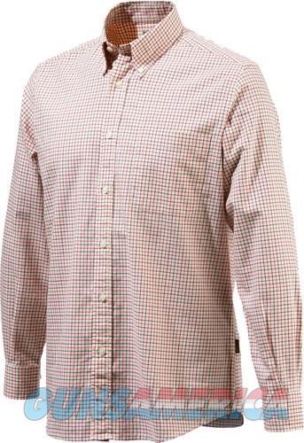 Beretta Men's Classic Drip Dry - Shirt Beige-red Check Medium<  Guns > Pistols > 1911 Pistol Copies (non-Colt)