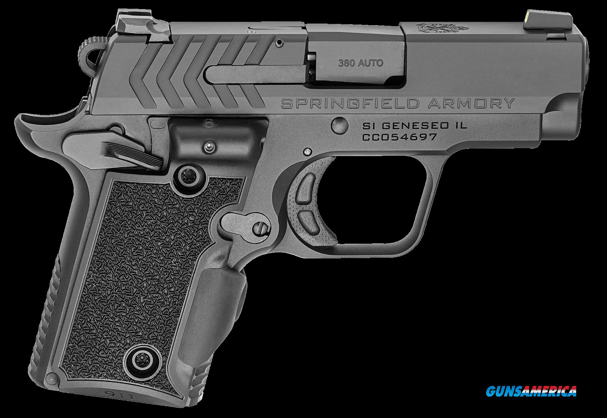Springfield Armory 911, Spg Pg9109vg      380 911 Blk Grn Las  Guns > Pistols > 1911 Pistol Copies (non-Colt)