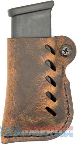 Versacarry Leather Mag Holder - Double Stack Flex Vent Dis Brn  Guns > Pistols > 1911 Pistol Copies (non-Colt)