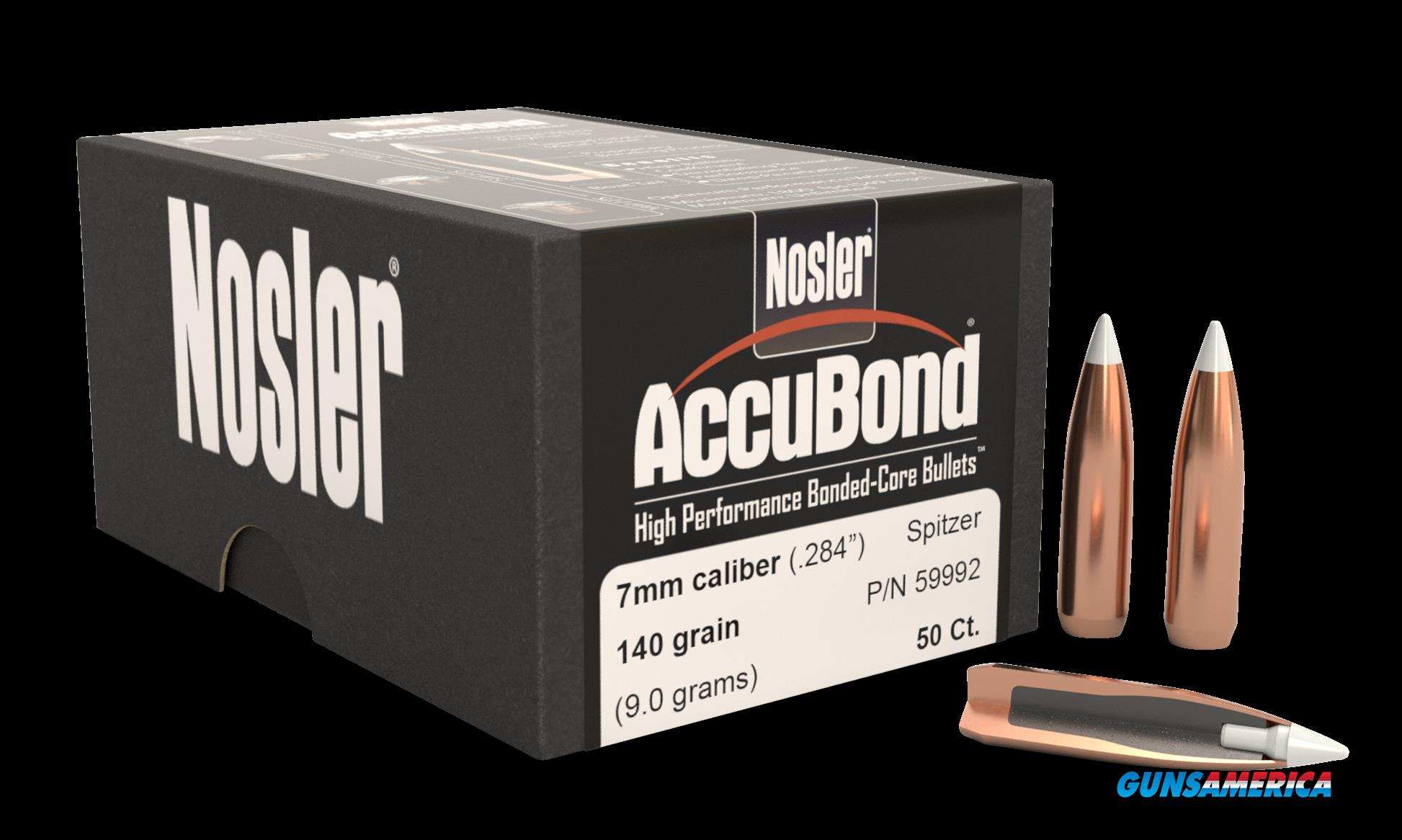 Nosler Accubond, Nos 59992 Accubond   284 140 Sptzr  50  Guns > Pistols > 1911 Pistol Copies (non-Colt)