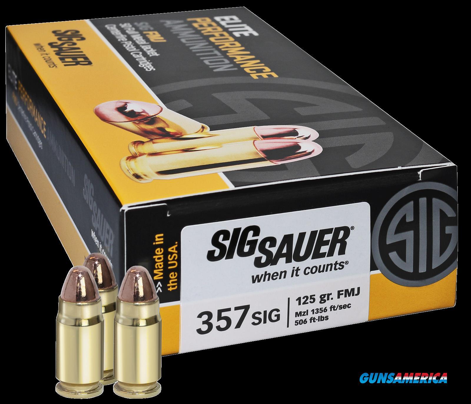 Sig Sauer Elite Ball, Sig E357b1-50     357s    125 Fmj Elite 50-20  Guns > Pistols > 1911 Pistol Copies (non-Colt)