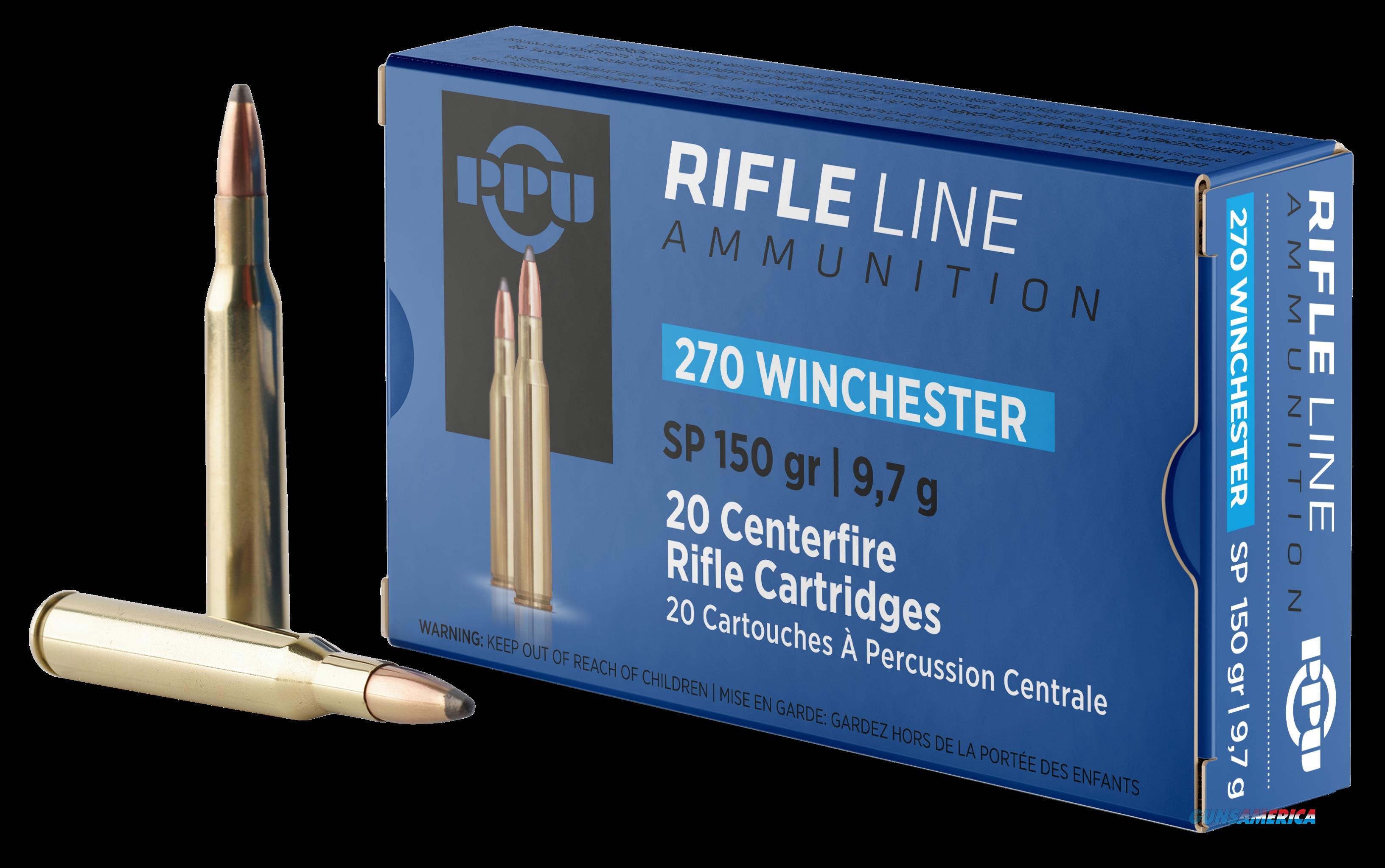 Ppu Standard Rifle, Ppu Pp2702      270         150 Sp           20-10  Guns > Pistols > 1911 Pistol Copies (non-Colt)