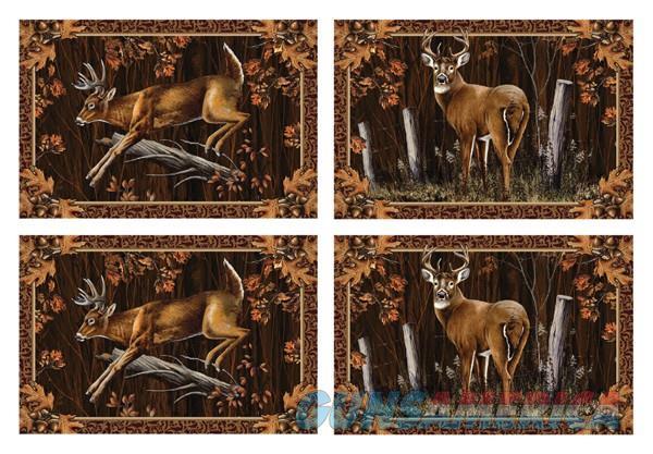 Rivers Edge 4 Pc Placemat Set - Deer 18x12  Guns > Pistols > 1911 Pistol Copies (non-Colt)