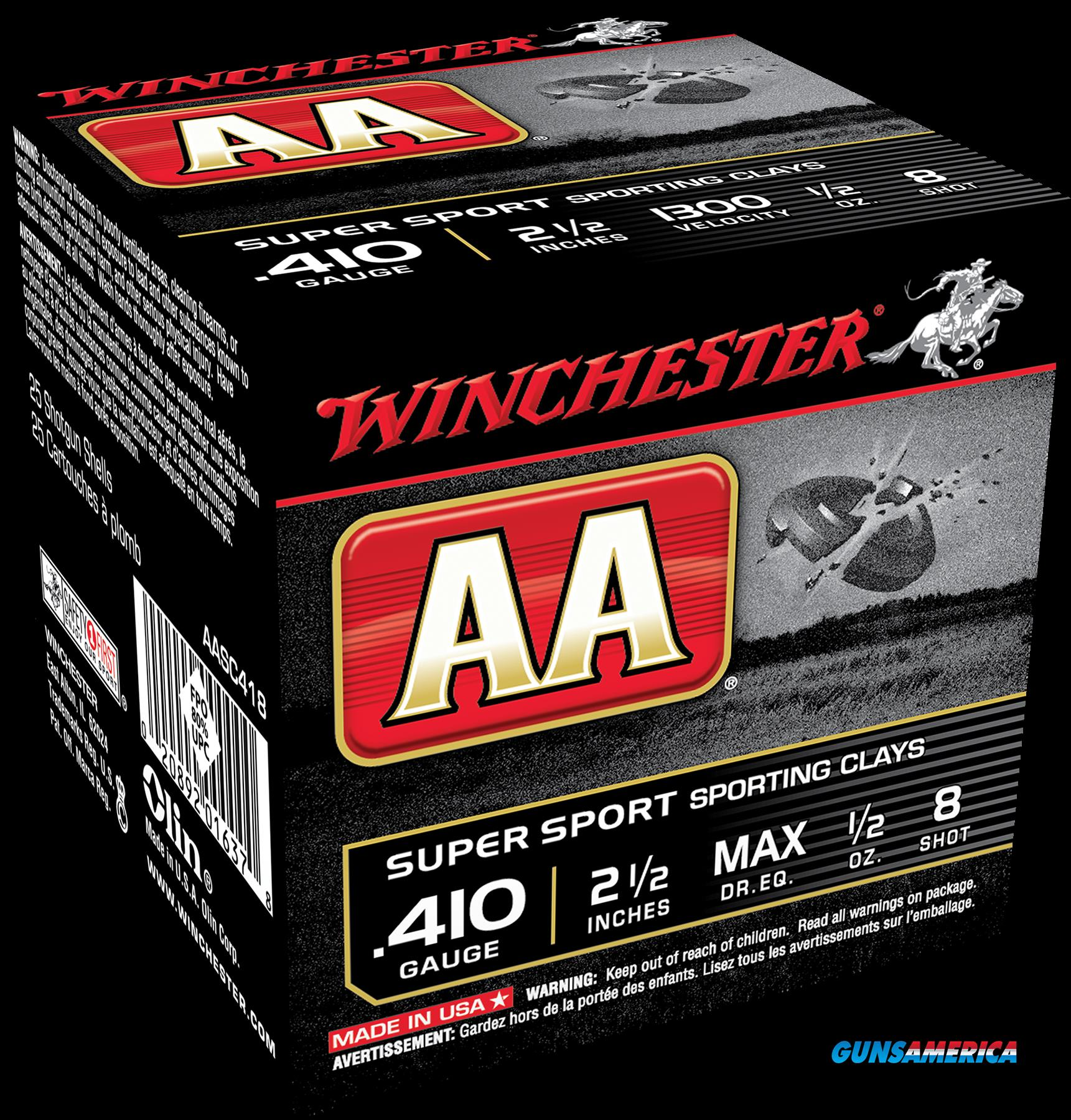 Winchester Ammo Aa, Win Aasc418    Aa Spt Cly   1-2   25-10  Guns > Pistols > 1911 Pistol Copies (non-Colt)