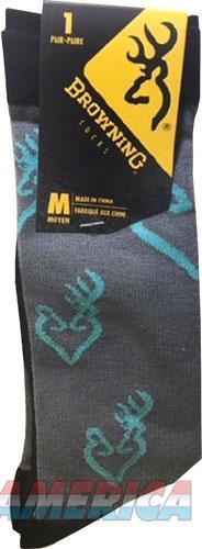 Bg Ladies Heartland Calf Socks - Med Grey-black-blue Buckmark  Guns > Pistols > 1911 Pistol Copies (non-Colt)