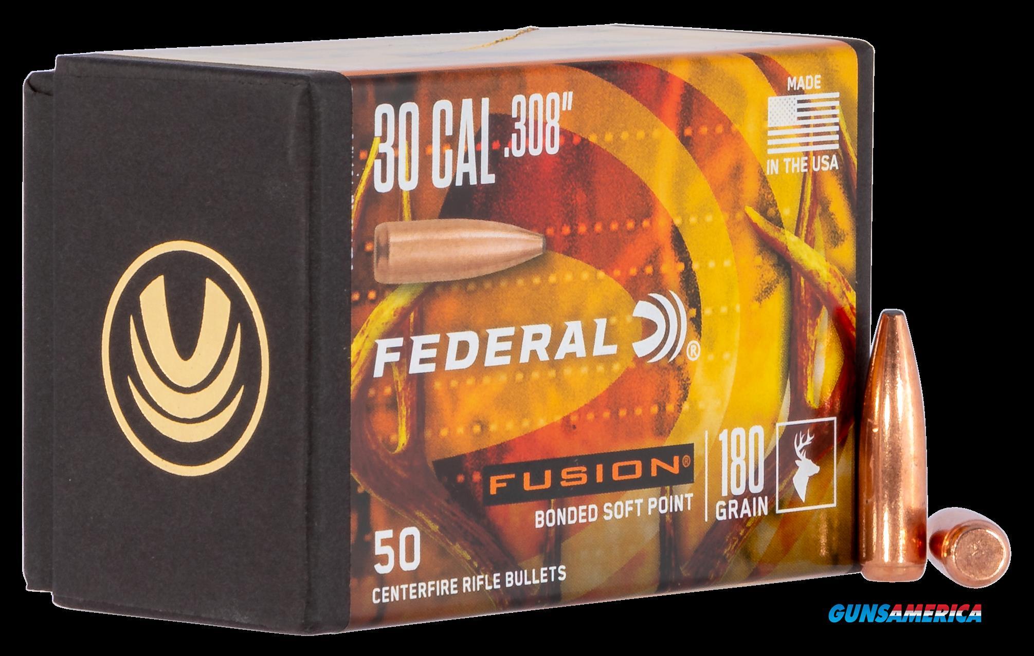 Federal Fusion Component, Fed Fb308f4     Bull .308 180fus        50-4  Guns > Pistols > 1911 Pistol Copies (non-Colt)