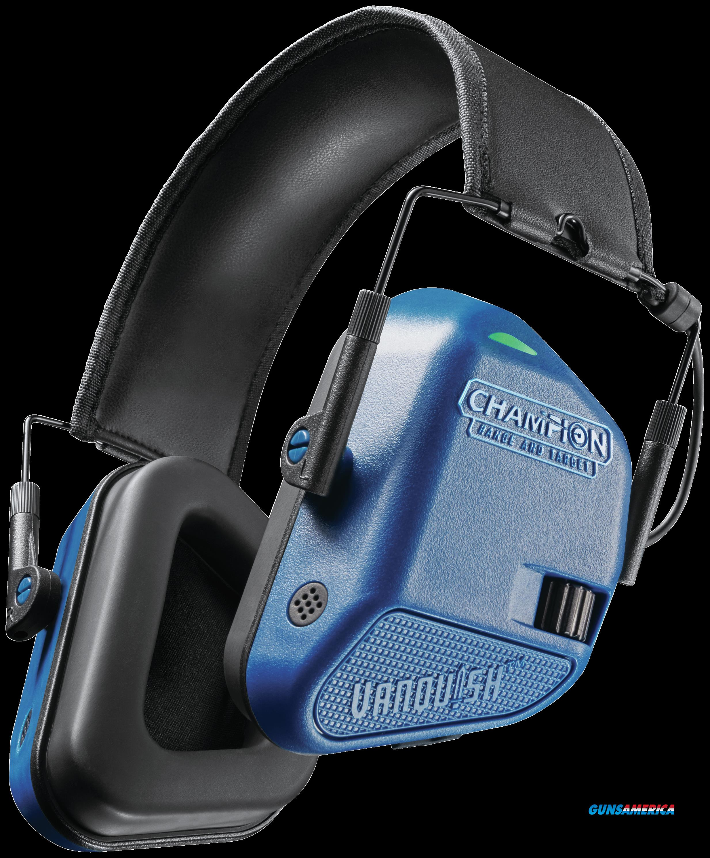 Champion Targets Vanquish Hearing Protection, Champ 40979 Headphone Elec Vanquish Blue  Guns > Pistols > 1911 Pistol Copies (non-Colt)