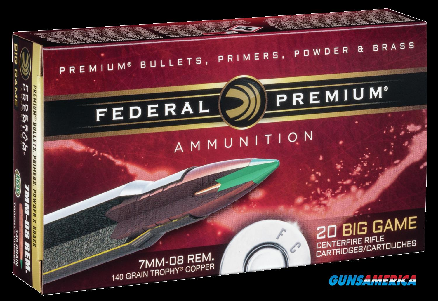 Federal Premium, Fed P708tc2    7mm08   140 Tc               20-10  Guns > Pistols > 1911 Pistol Copies (non-Colt)