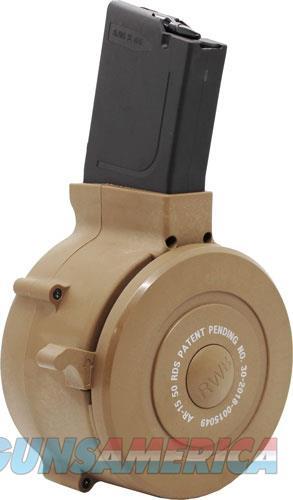 Iver Johnson Magazine Ar15 - .223 50rd Drum Tan Poly  Guns > Pistols > 1911 Pistol Copies (non-Colt)