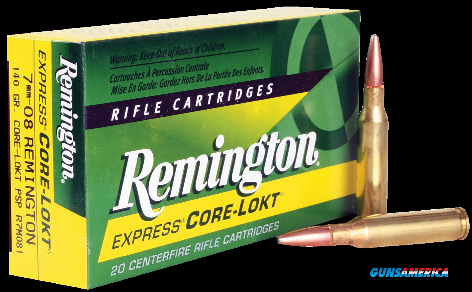 Remington Ammunition Core-lokt, Rem 21337 R7m081  7mm08    140 Pspcl   20-10  Guns > Pistols > 1911 Pistol Copies (non-Colt)