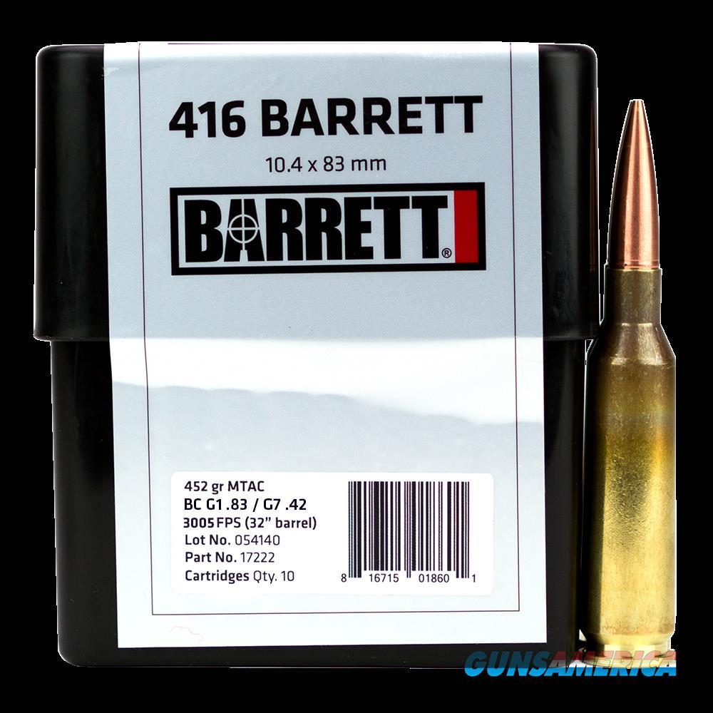 Barrett Rifle, Barr 17222 416 Barrett Ceb 452 Mtac 10 Shells-box  Guns > Pistols > 1911 Pistol Copies (non-Colt)