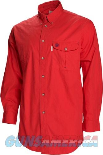 Beretta Shooting Shirt Medium - Long Sleeve Cotton Red<  Guns > Pistols > 1911 Pistol Copies (non-Colt)