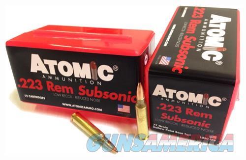 Atomic Ammo .223 Rem. Subsonic - 77gr. Nosler Bthp 50-pack  Guns > Pistols > 1911 Pistol Copies (non-Colt)
