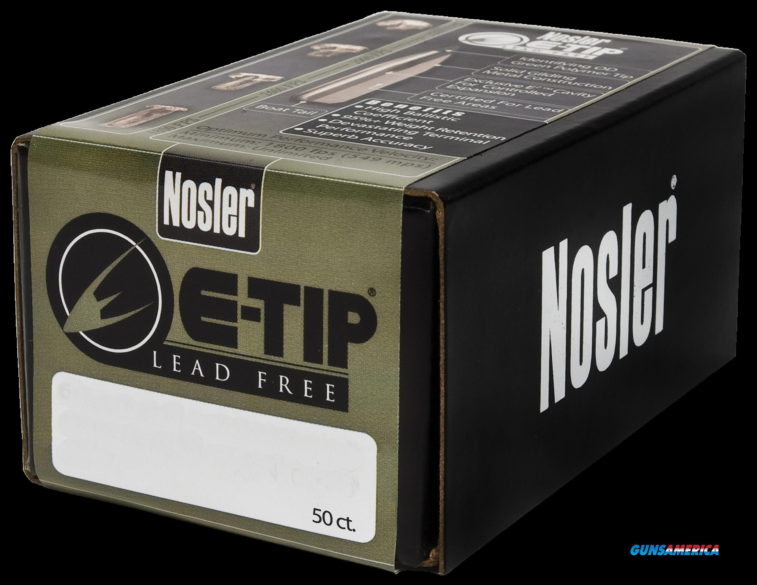 Nosler E-tip, Nos 59180 E-tip      308 180 Sptzr  50  Guns > Pistols > 1911 Pistol Copies (non-Colt)