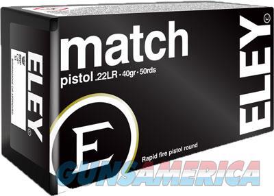 Eley Match Pistol 40gr. - Round Nose 50 Pack  Guns > Pistols > 1911 Pistol Copies (non-Colt)
