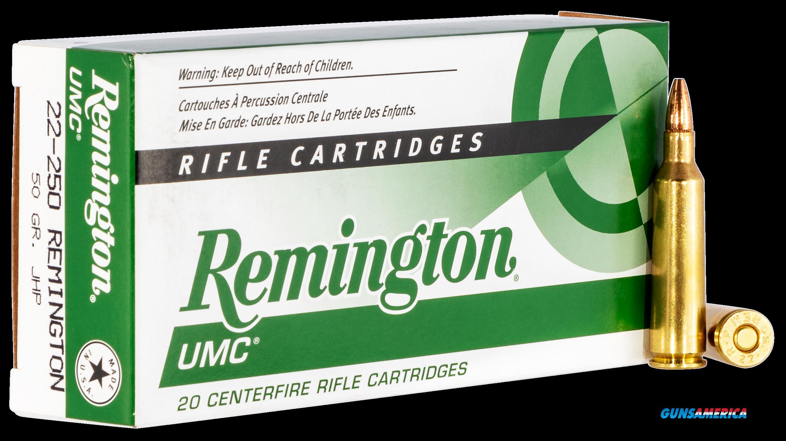 Remington Ammunition Umc, Rem 23813 L22504   Umc 22250     50jhp 20-10  Guns > Pistols > 1911 Pistol Copies (non-Colt)