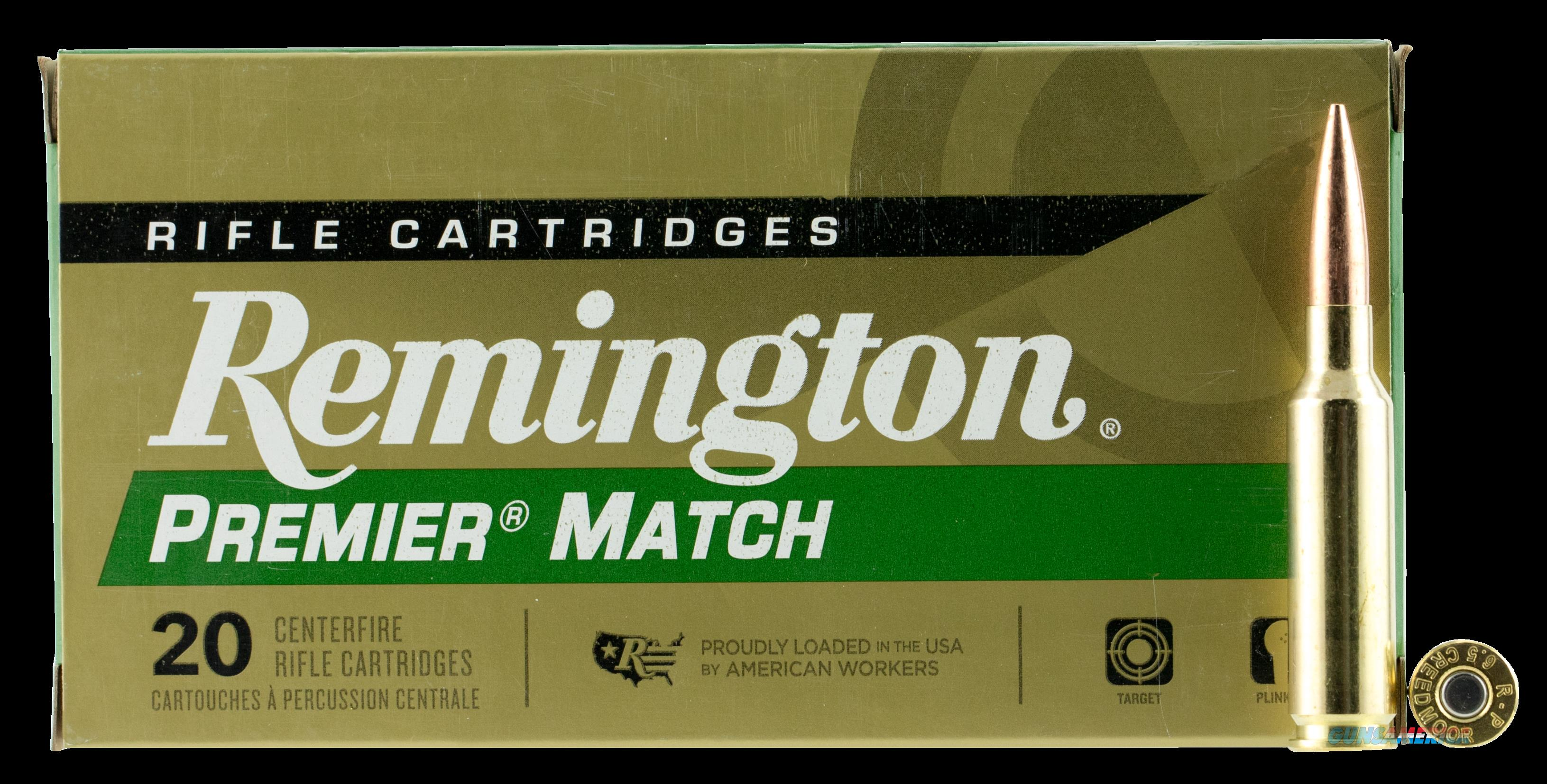 Remington Ammunition Premier, Rem 27661 Rm65cr  6.5crd   140 Otm Bt  20-10  Guns > Pistols > 1911 Pistol Copies (non-Colt)