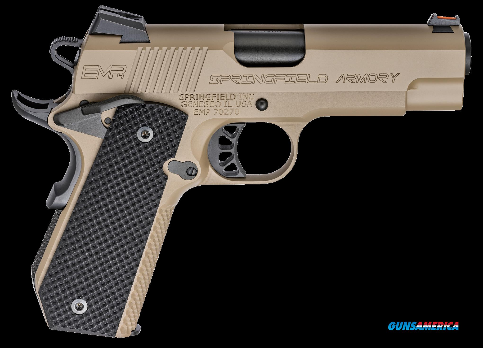 Springfield Armory 1911, Spg Pi9229f        9m Concry Cnt  4in Lwt Chmp Fde  Guns > Pistols > 1911 Pistol Copies (non-Colt)