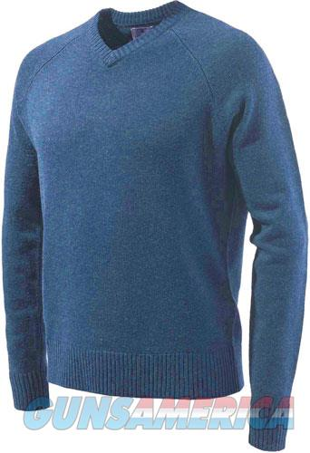 Beretta Men's Classic V-neck - Sweater Large Blue W-logo<  Guns > Pistols > 1911 Pistol Copies (non-Colt)
