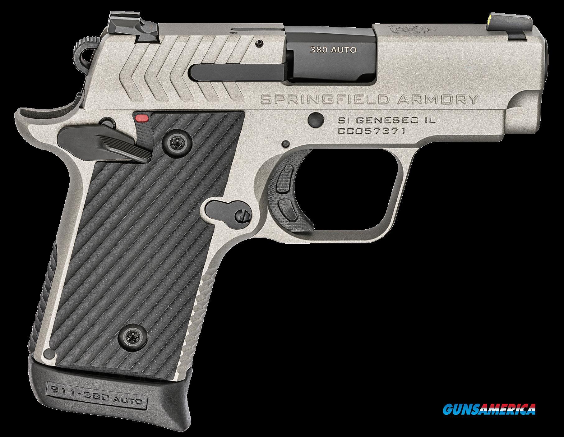 Springfield Armory 911, Spg Pg9109t       380 911 2.7 Titanium       6-7r  Guns > Pistols > 1911 Pistol Copies (non-Colt)