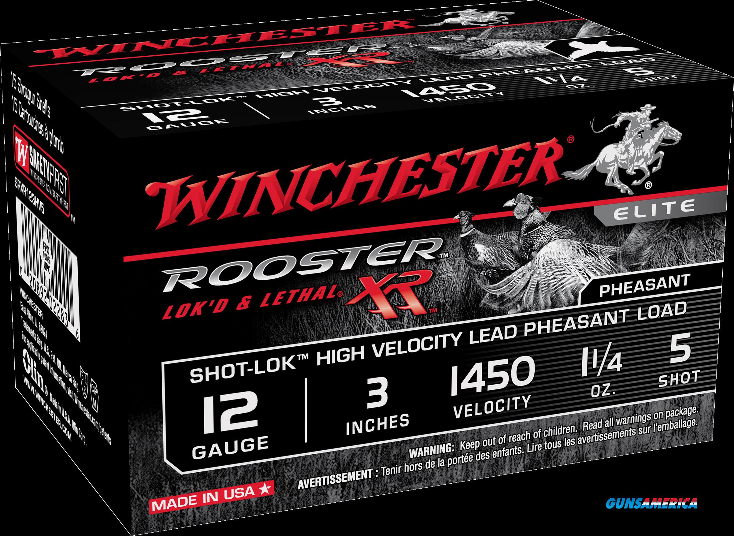 Winchester Ammo Rooster Xr, Win Srxr123hv5  Rstr Xr 12 5 3in  15-10  Guns > Pistols > 1911 Pistol Copies (non-Colt)
