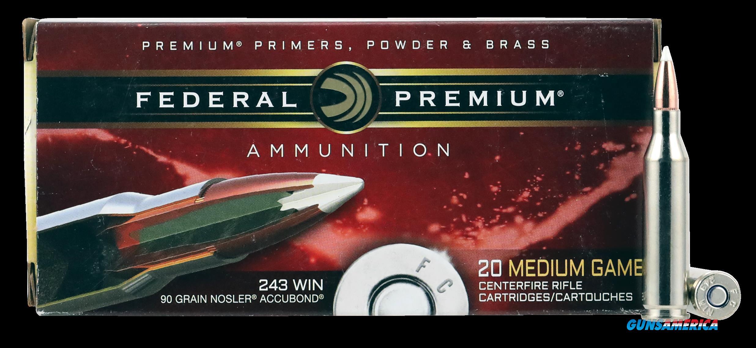 Federal Premium, Fed P243a1     243     90 Nosab       20-10  Guns > Pistols > 1911 Pistol Copies (non-Colt)