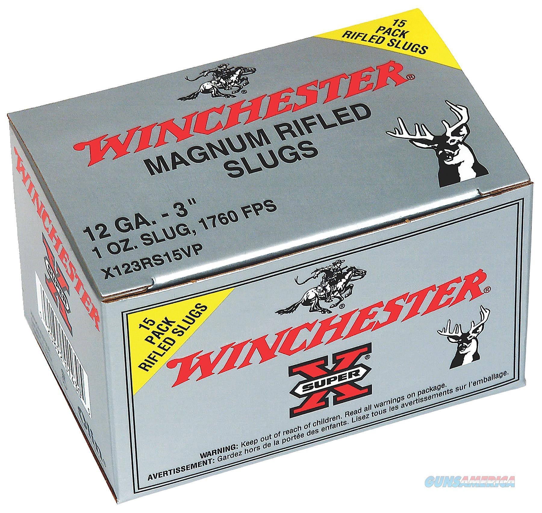 Winchester Ammo Super-x, Win X123rs15vp Supx            Slug  15-10  Guns > Pistols > 1911 Pistol Copies (non-Colt)